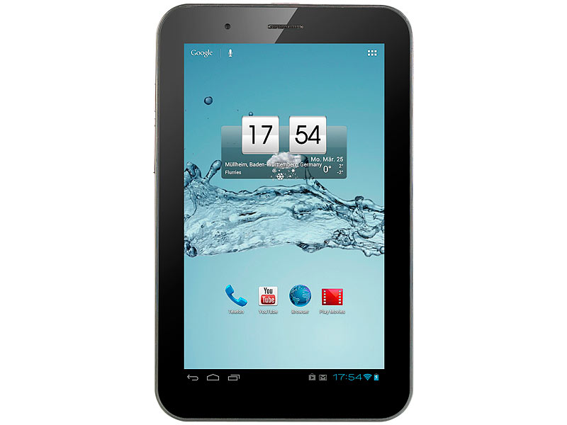 "TOUCHLET 7""-Android-Tablet-PC SX7 mit UMTS 3G, GPS, BT4, Android 4.1; Android Tablet PCs groß"